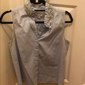 JCrew jeweled collar top (Tilda), size 6